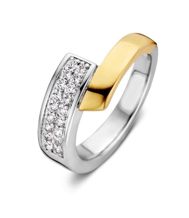 Excellent jewelry Ring zilver/goud zirkonia RF626846