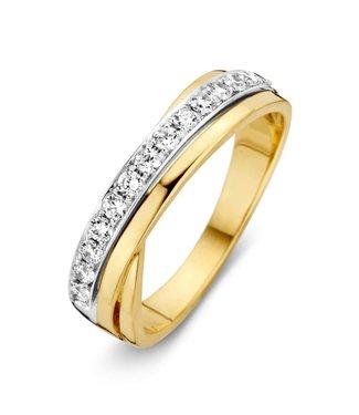 Excellent Jewelry Ring bicolor zirkonia RH426187