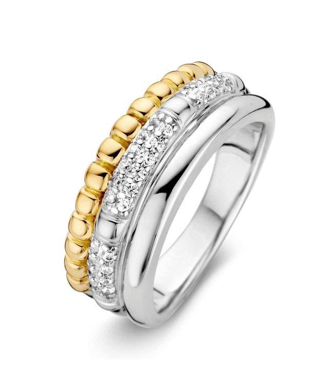Excellent jewelry Ring zilver/goud zirkonia RF626242