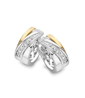 Excellent Jewelry Creool zilver/goud zirkonia OF626068