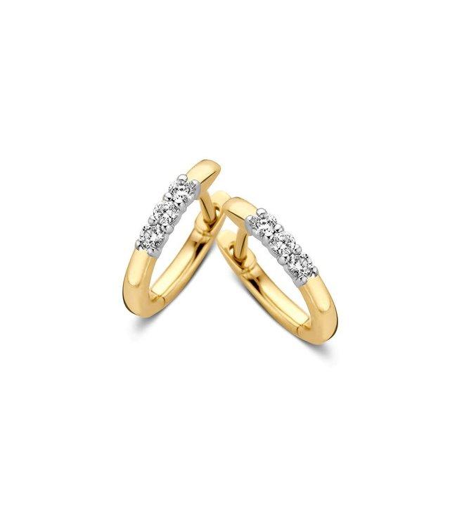 Excellent jewelry Creool bicolor briljant 0,15 crt. OG416844
