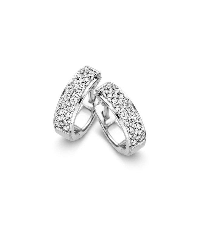 Excellent jewelry Creool witgoud briljant 0,32 crt. OG216593