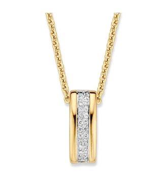 Excellent Jewelry Pendant bicolor brilliant 0.14 crt. HG414481