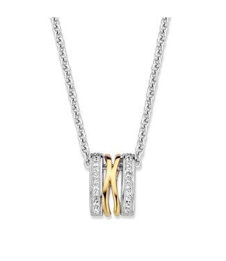 Excellent Jewelry Hanger zilver/goud zirkonia HF625952