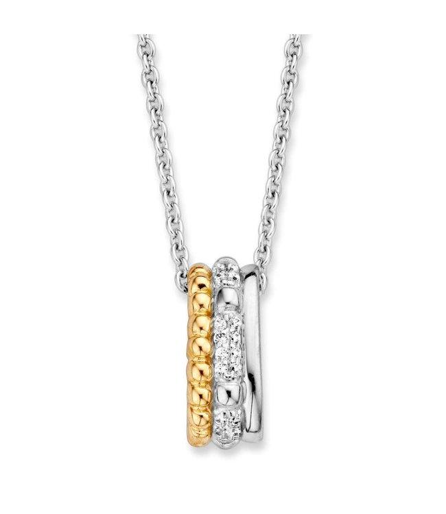 Excellent jewelry Hanger ziver/goud zirkonia HF626258