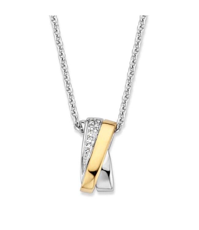 Excellent jewelry Hanger zilver/goud zirkonia HF626042