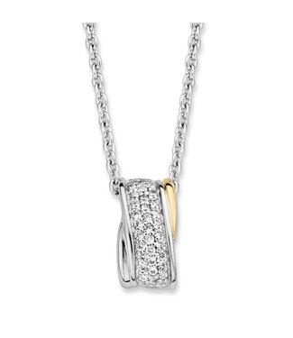 Excellent Jewelry Hanger zilver/goud zirkonia HF625954