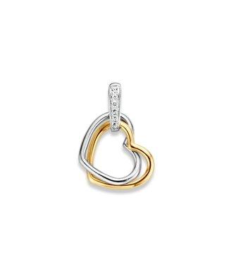 Excellent Jewelry Hanger bicolor zirkonia HH425867