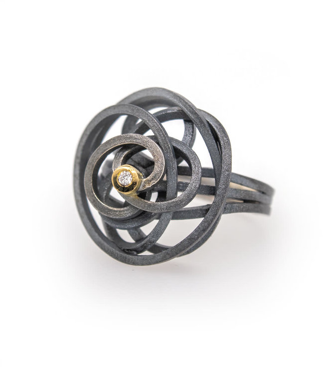 Caos silver & gold 1 brilliants ring