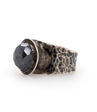 Jeh Jewels Ring zilver + Labradoriet Cab 19494