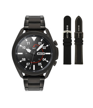 Samsung Samsung Galaxy 3 smartwatch SA.R840BS - Staal - Schakelband- Zwart - Ø 45 mm - Special edition