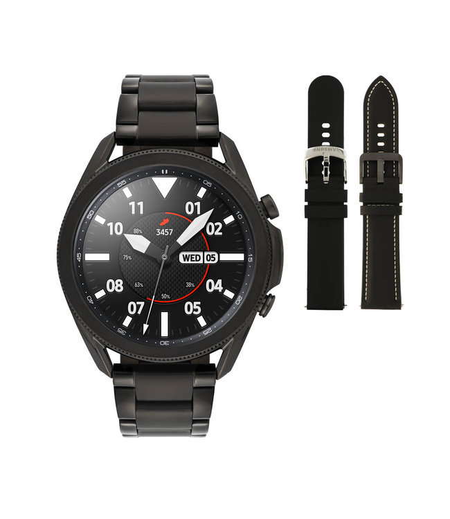 Samsung Galaxy 3 smartwatch SA.R840BS - Staal - Schakelband- Zwart - Ø 45 mm - Special edition