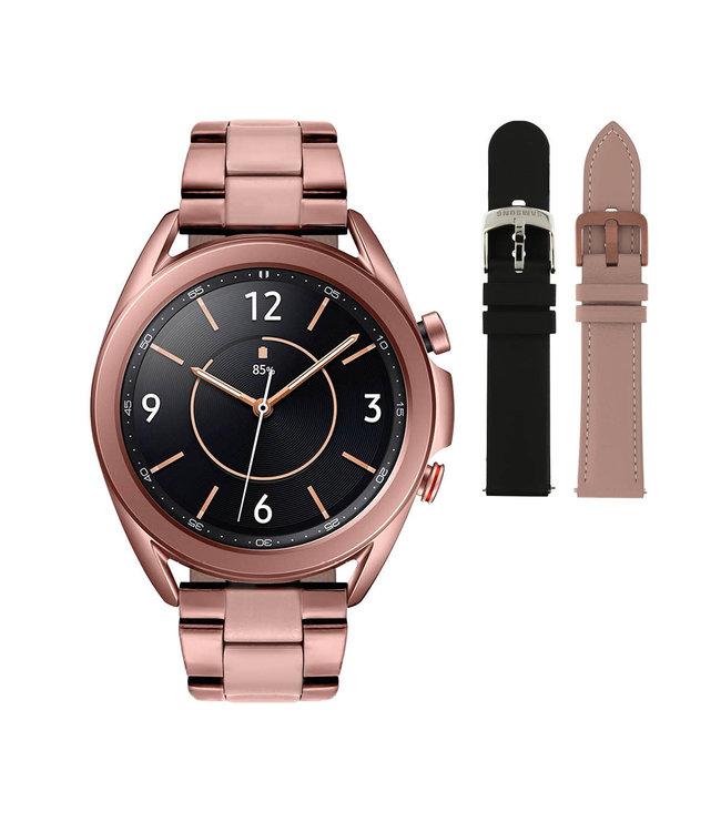 Samsung Galaxy 3 smartwatch SA.R850CS - Staal - Schakelband- Koper - Ø 41 mm - Special edition