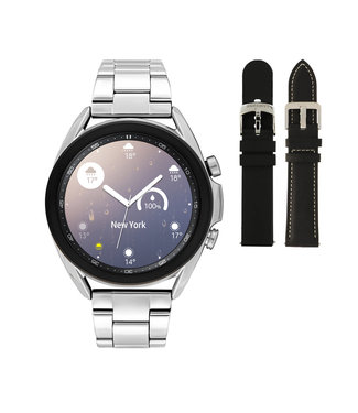Samsung Samsung Galaxy 3 smartwatch SA.R850SD - Staal - Schakelband- Zilverkleurig - Ø 41 mm - Special edition
