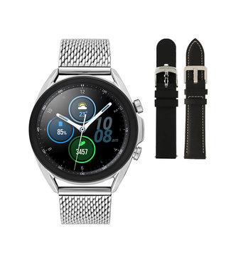 Samsung Samsung Galaxy 3 smartwatch SA.R850SM - Staal - Schakelband- Zilverkleurig - Ø 41 mm - Special edition