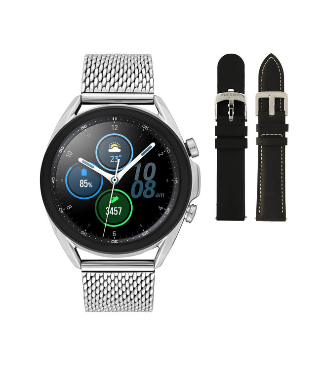 Samsung Galaxy 3 smartwatch SA.R850SM - Staal - Schakelband- Zilverkleurig - Ø 41 mm - Special edition