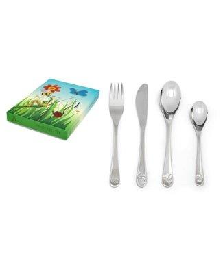 Zilverstad Children's cutlery Friends of nature, 4 pieces, stainless steel 18/10