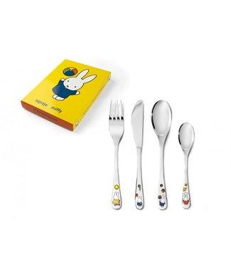 Zilverstad Zilverstad Children's cutlery miffy plays - 4-piece - stainless steel