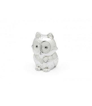 Zilverstad Money box Owl, silver color