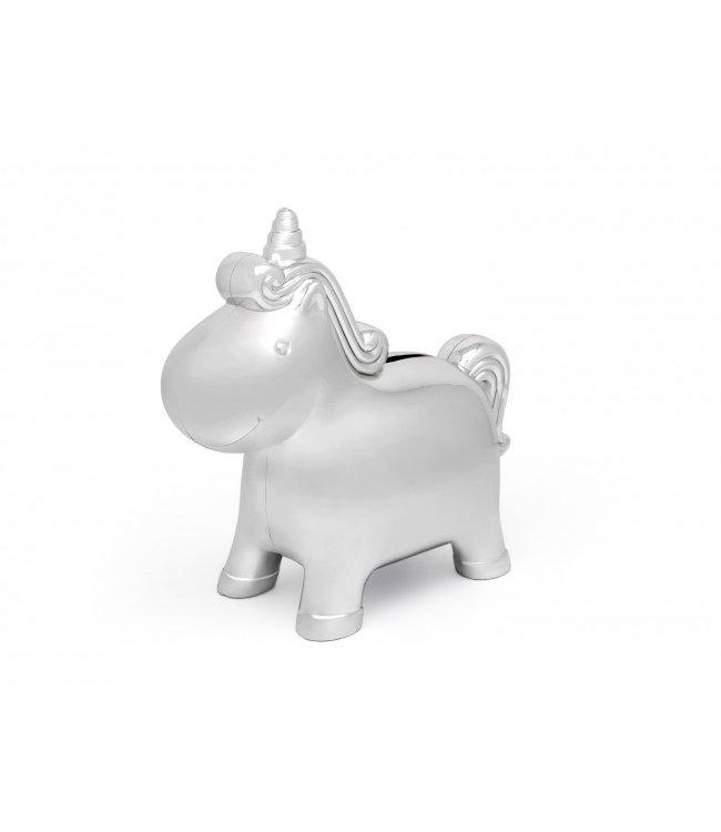 Zilverstad Spaarpot Unicorn - Verzilverd
