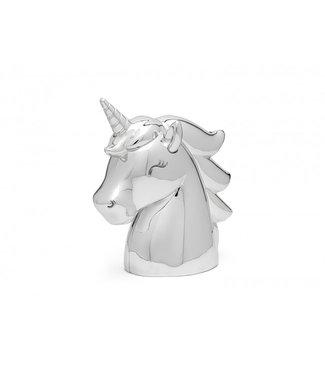 Zilverstad Spaarpot Unicorn, zilver kleur - Gratis te graveren
