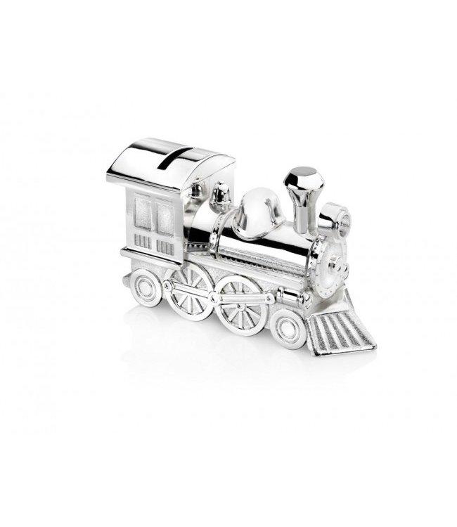 Zilverstad Spaarpot Locomotief - Verzilverd