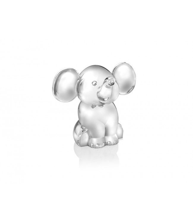 Zilverstad Money box Seated Elephant - Silver plated