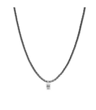 Buddha to Buddha George XS Necklace Black Rhodium Silver 60 cm