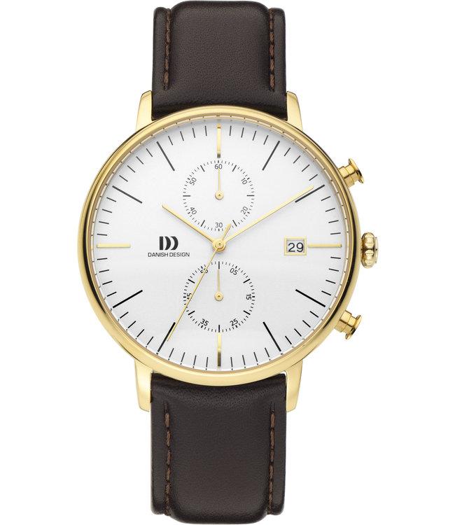 Danish Design Watch Classic Chronograph Iq45Q975 Stainless Steel.