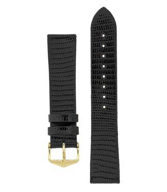 Hirsch Horlogebandje Lizard Kalfsleer 15 mm