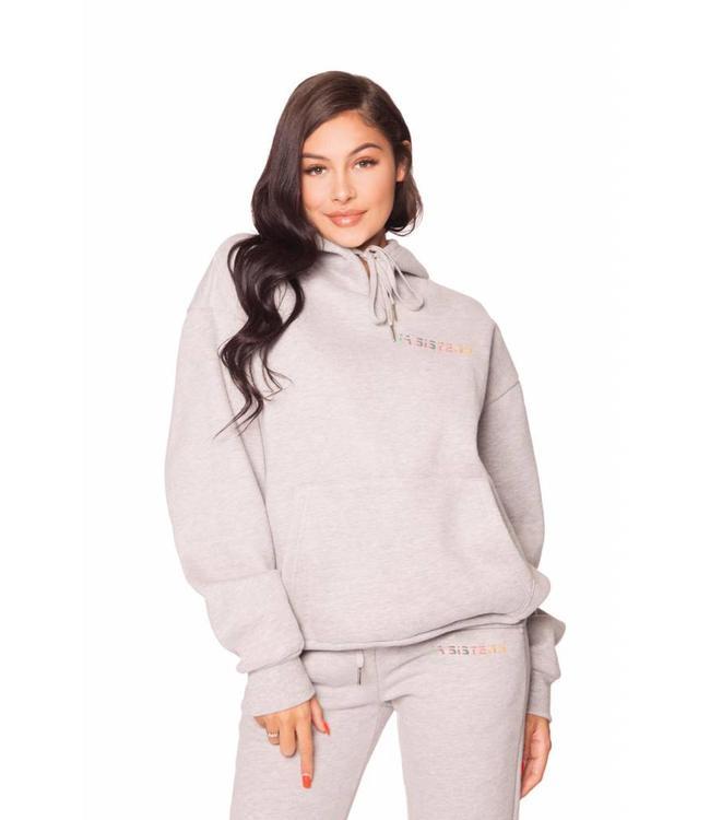 LA Sisters Grijze hologram hoodie