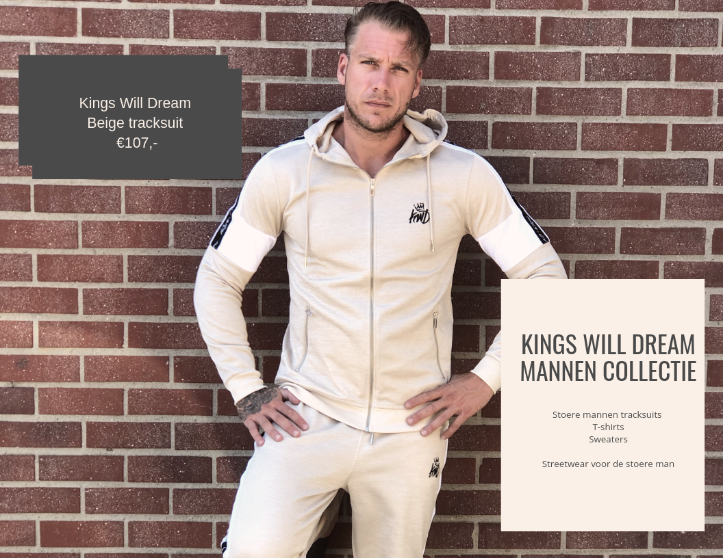mannen collectie kings will dream