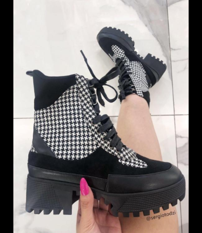 Boots zwart wit