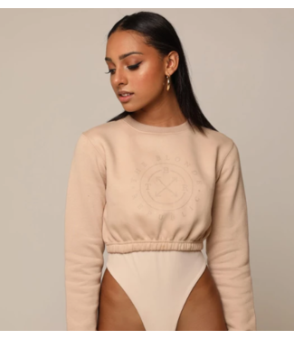 The Blonde Republic Crop sweater nude
