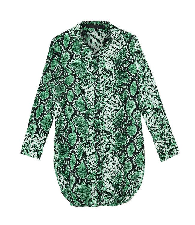 Snake blouse groen