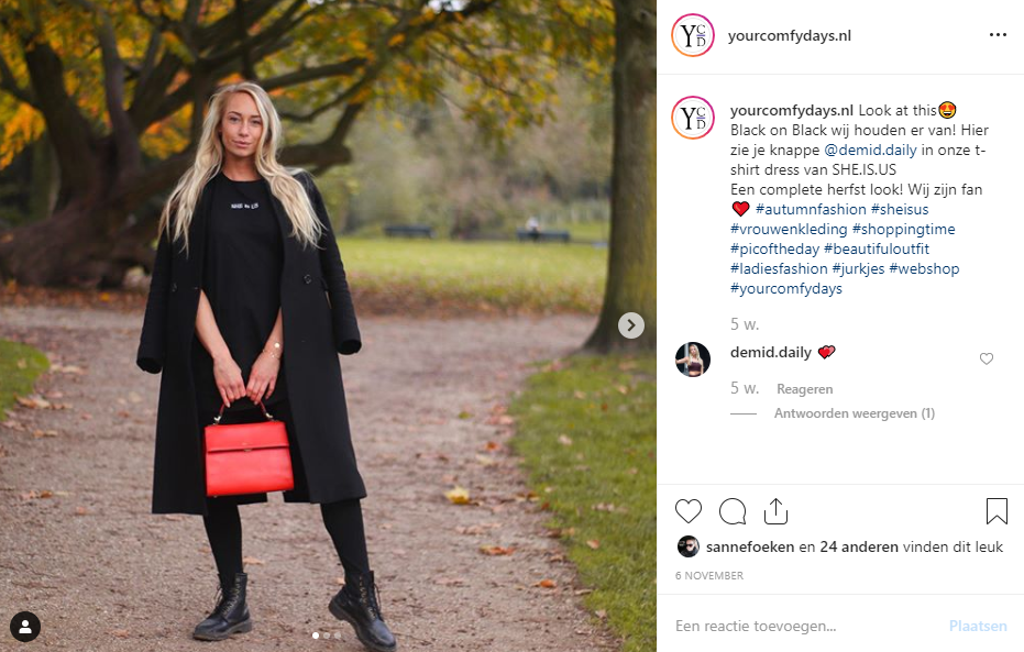 influencer she is us kleding