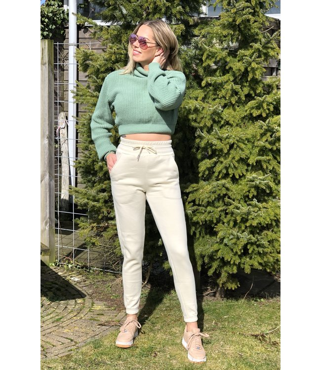 YCD high waist joggingbroek