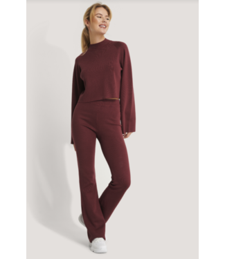 Na-Kd Burgundy flared pants