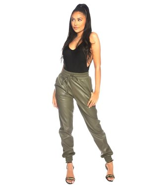 LA Sisters Lederlook army pants