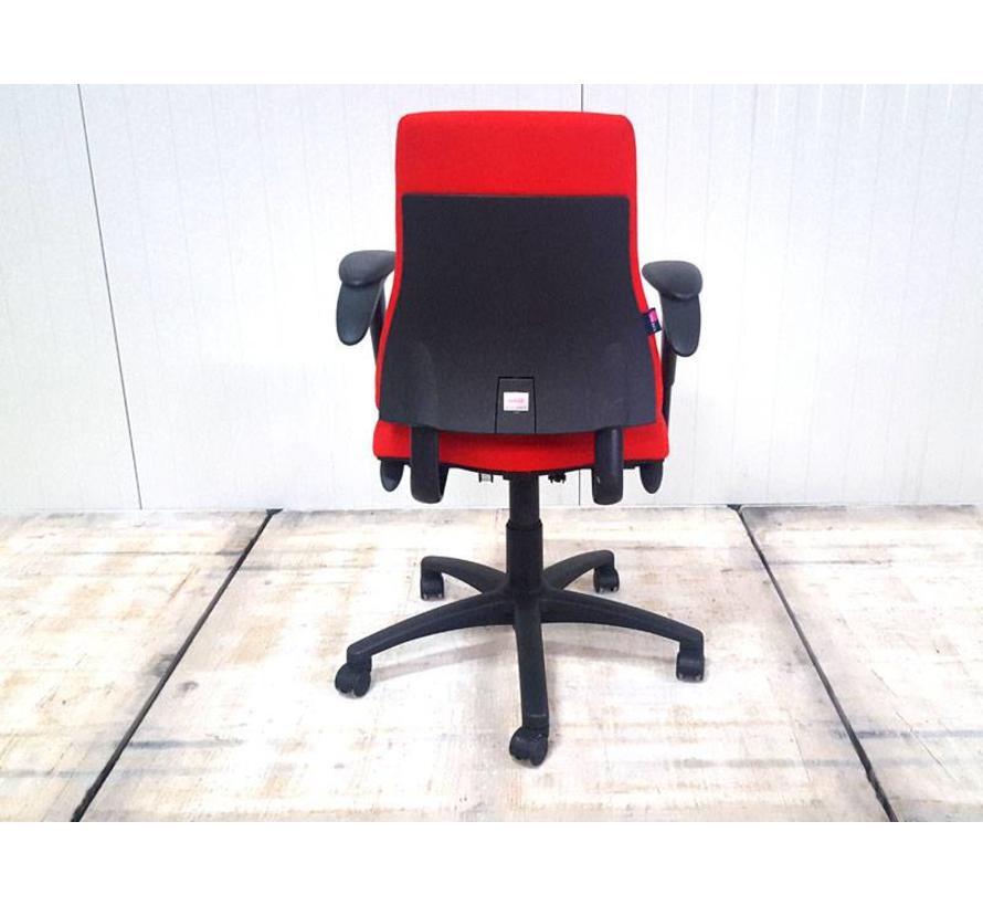 BMA Axia Bureaustoel Rood | Nieuw Gestoffeerd - Hoge Rug