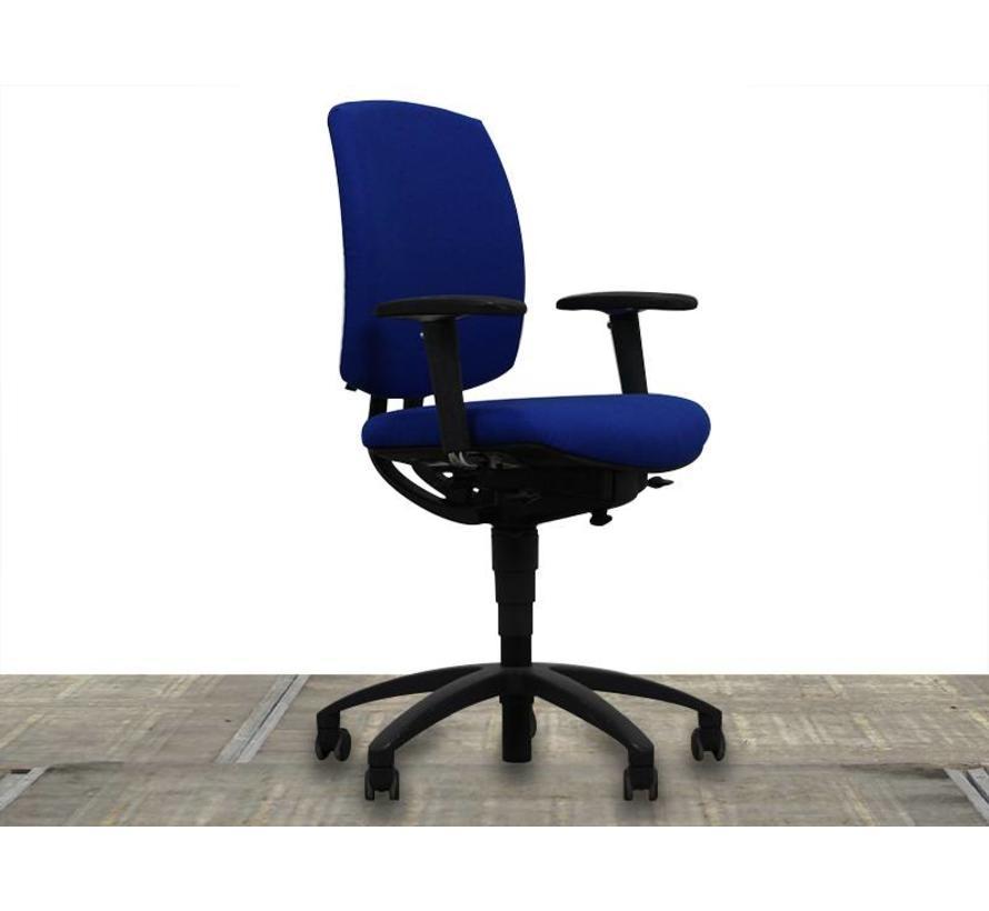 Bureaustoel Blauw Zwart.Drabert Entrada Bureaustoel Blauw Nieuw Gestoffeerd Zwart