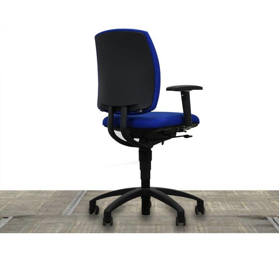 Drabert Entrada Bureaustoel Blauw | Nieuw Gestoffeerd - Zwart Voetkruis