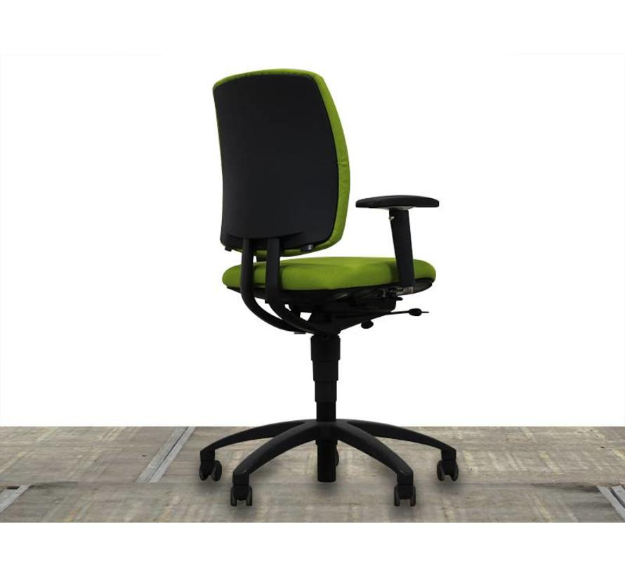 Drabert Entrada Bureaustoel Lime Groen | Nieuw Gestoffeerd - Zwart Voetkruis