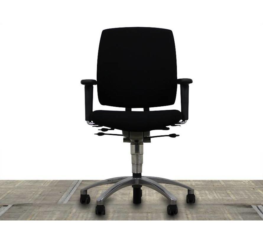 Drabert Entrada Bureaustoel Zwart | Chroom - Nieuwe Stoffering