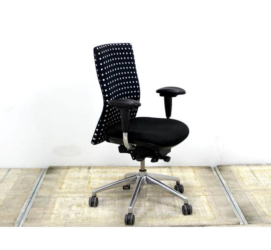 Bureaustoel 30 Euro.Euroseats Zalor Bureaustoel Zwart Witte Blokken Lamers