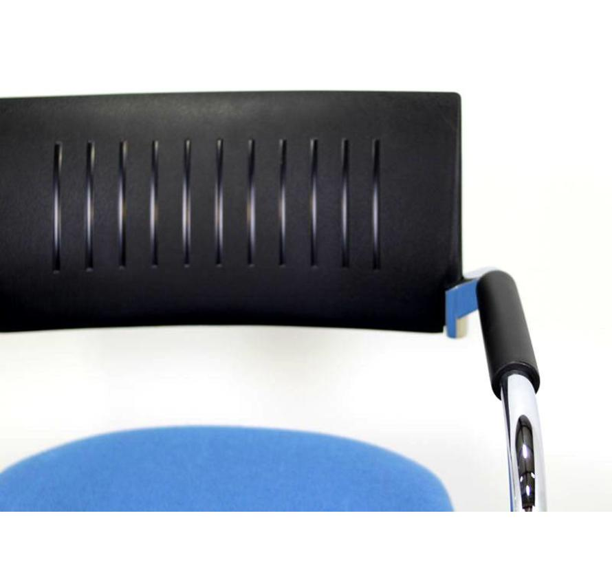 Dauphin Teo Stoel | Blauw / Zwart - Chroom Onderstel