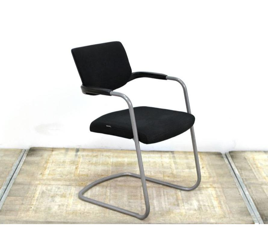 Interstuhl Stoel | Zwart - Aluminium Onderstel