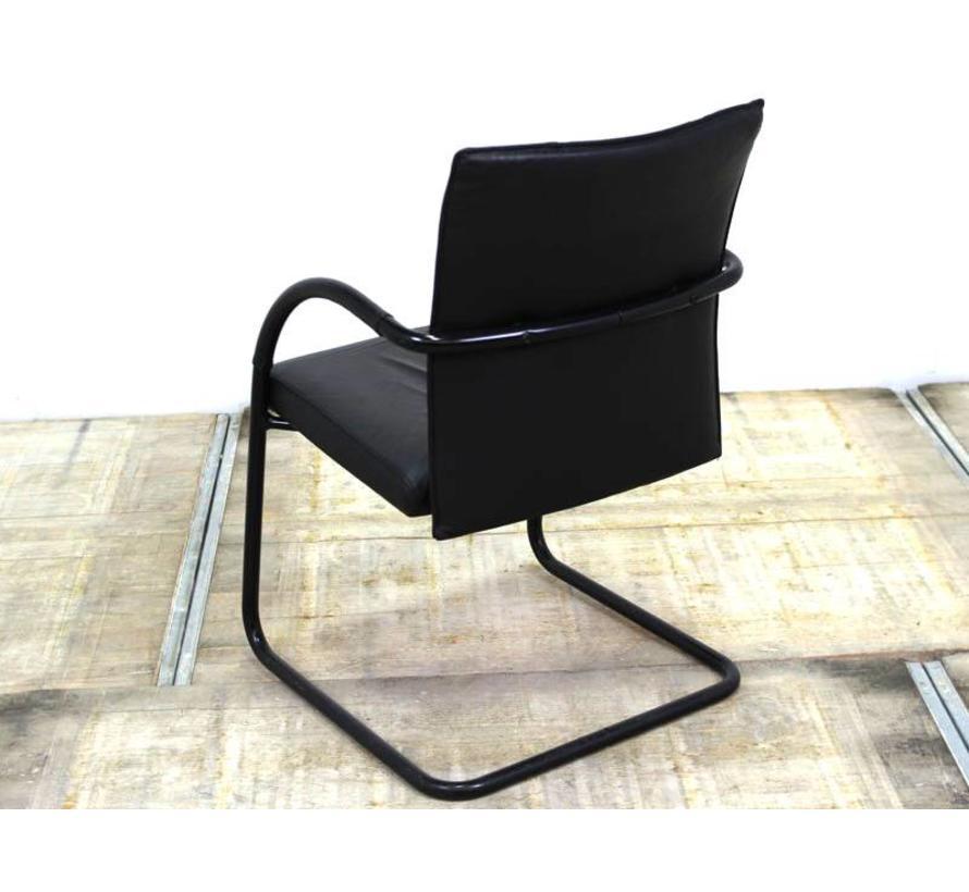 Klöber 911 Stoel | Zwart Leder - Zwart Onderstel
