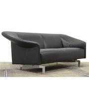 Leolux Leolux Borgia Designbank | Zwart Leder