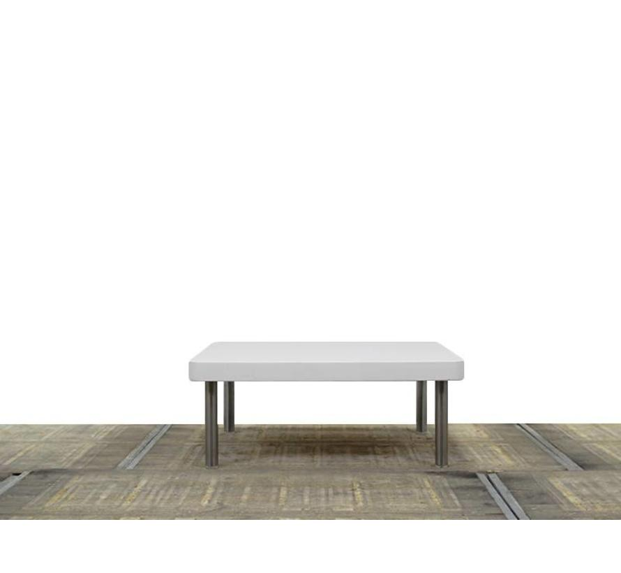 Montis Spots Salontafel | Hoogglans Wit - Gepolijst Aluminium